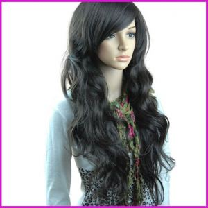 Synthetic Long Wavy Brown Wigs,Women's  Fashion Wig On Sale